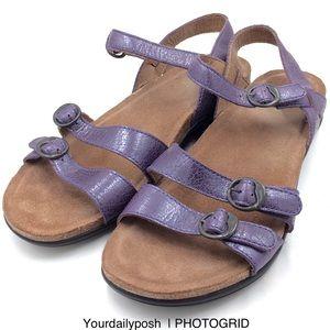 Purple leather Dansko Janis strappy sandals EU 40